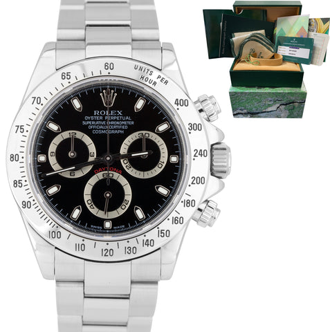 2019 SERVICE Rolex Daytona Cosmograph F Black Stainless Steel 40mm Watch 116520