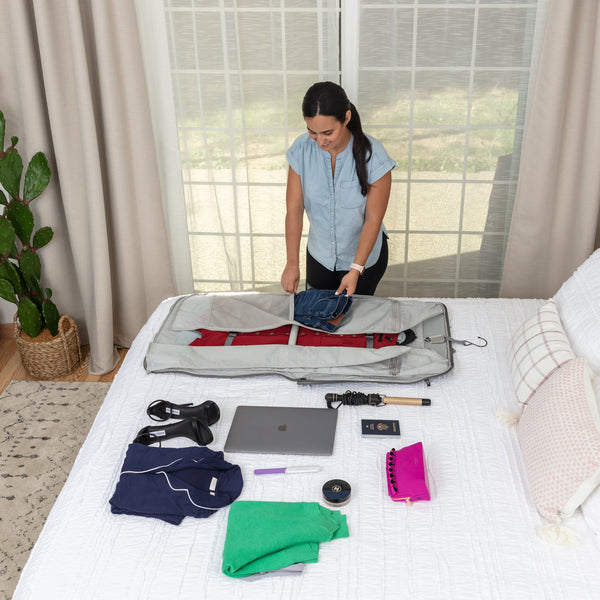How to pack a garment bag