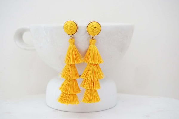 Tier Tassel Post Earrings