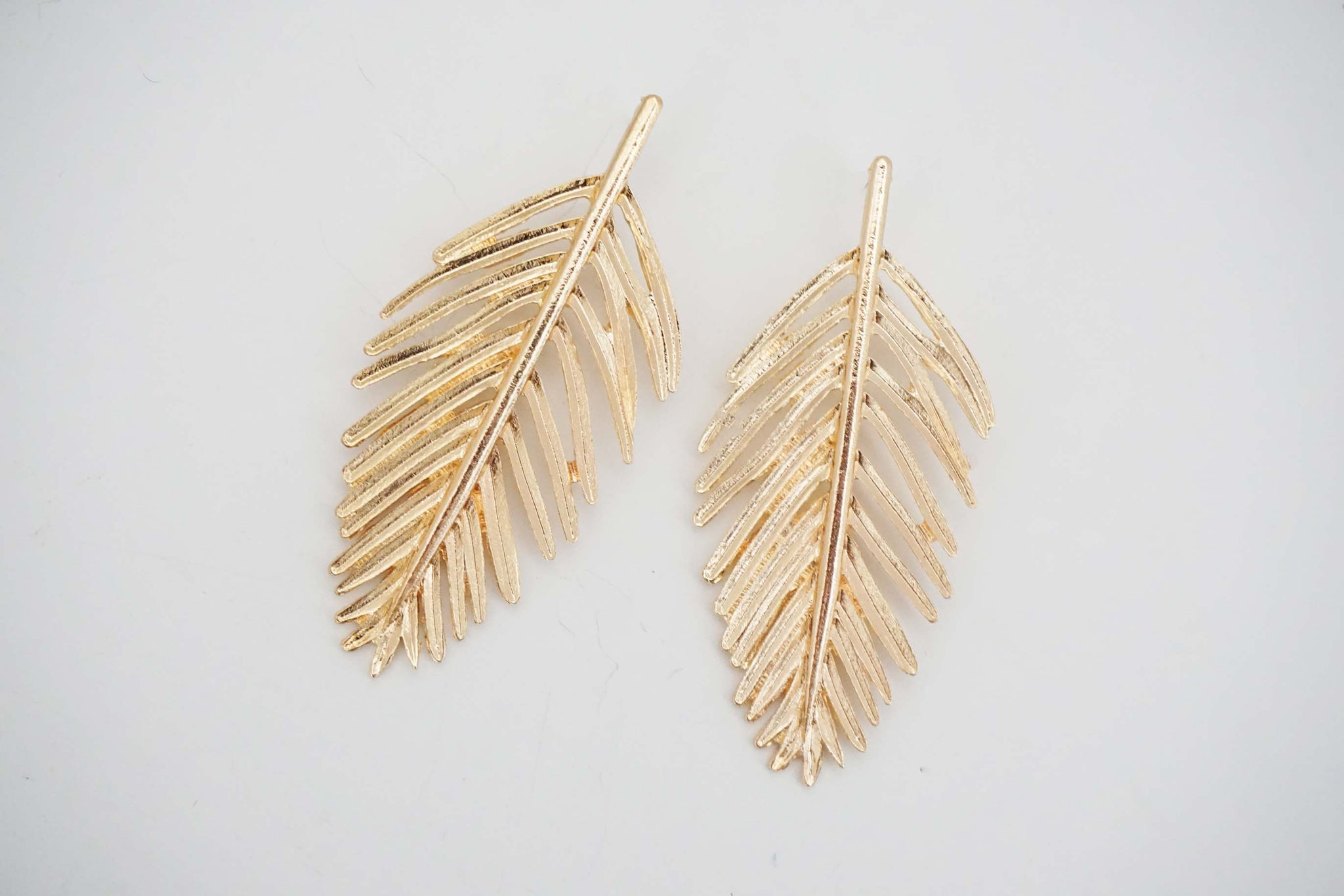 Gold Leaf Post Earrings