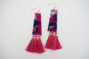 Acrylic Tassel Statement Earrings