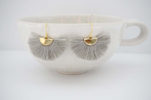 Fan Tassel Statement Earrings