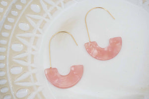 Blush Pink Acrylic Statement Earrings