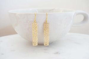 Gold Honeycomb Earrings