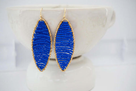 Beaded Pendant Earrings