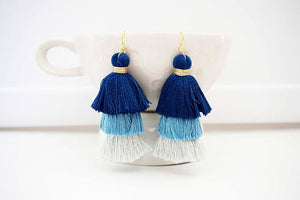 Ombre Tier Tassel Earrings