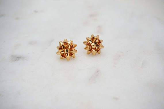 Bow Post Stud Earrings