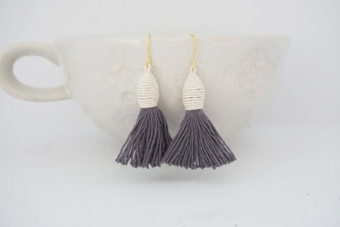 Wrapped Tassel Earrings