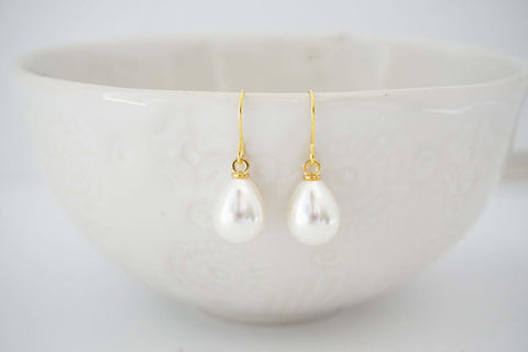 Pearl Teardrop Earrings | Bridesmaid Earrings | Wedding Jewelry