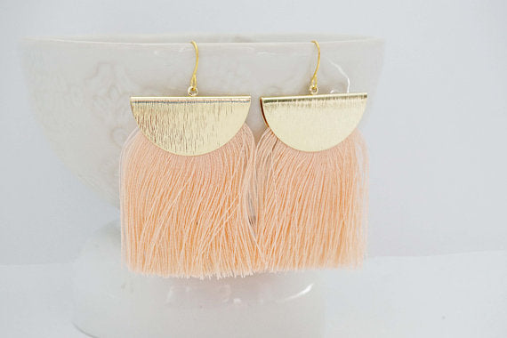 Tassel Texture Gold Earrings