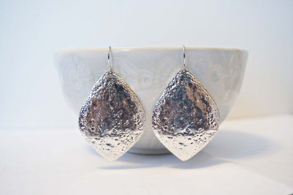 Hammered Pendant Earrings