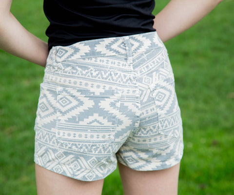 Aztec Print Shorts - Amore Clothing - 2