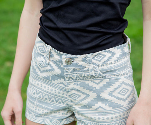 Aztec Print Shorts - Amore Clothing - 1