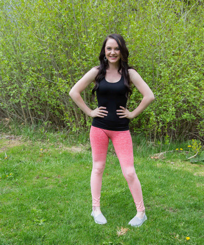 Coral Ombre Activewear Pants - Amore Clothing - 1