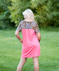 Animal Print Coral Tunic Tshirt Dress - Amore Clothing - 3
