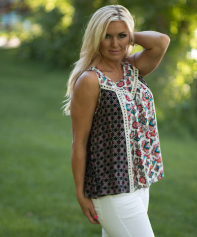 Boho Crochet Tank Top - Amore Clothing - 2