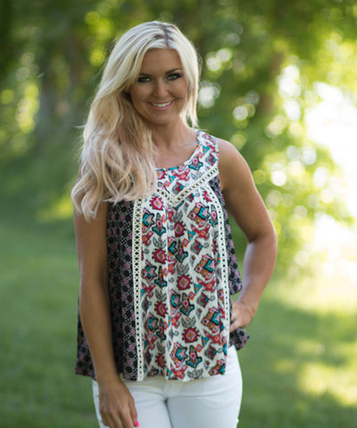 Boho Crochet Tank Top - Amore Clothing - 1