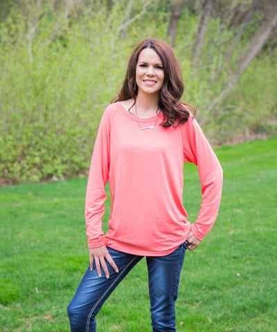 Coral Long Sleeve Top - Amore Clothing - 1