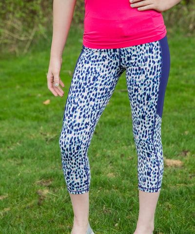 Purple leopard print yoga pant - Amore Clothing - 1