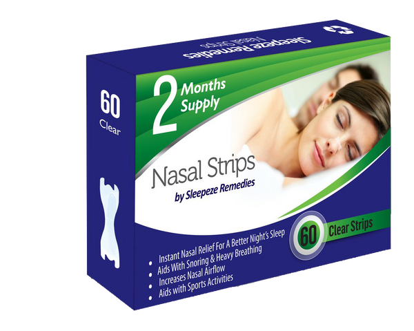 60 Nasal Strips Clear by Sleepeze Remedies