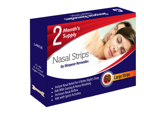 60 Large Nasal Strips by Sleepeze Remedies