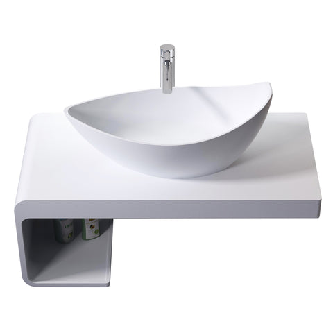 Metro Floating Wall Hung Shelf with Basin - Waterbury Design Works