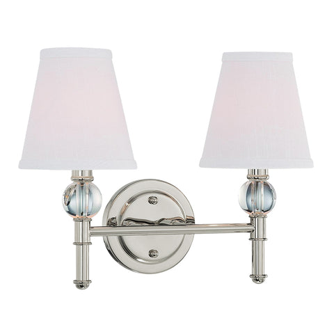 Savoy 2 Light Vanity Fixture - Waterbury Design Works