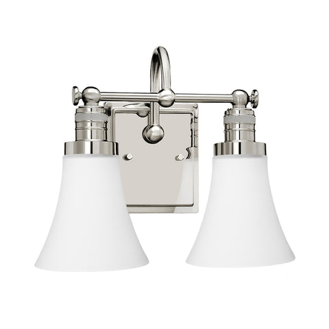 Brompton 2 Light Vanity Fixture - Waterbury Design Works