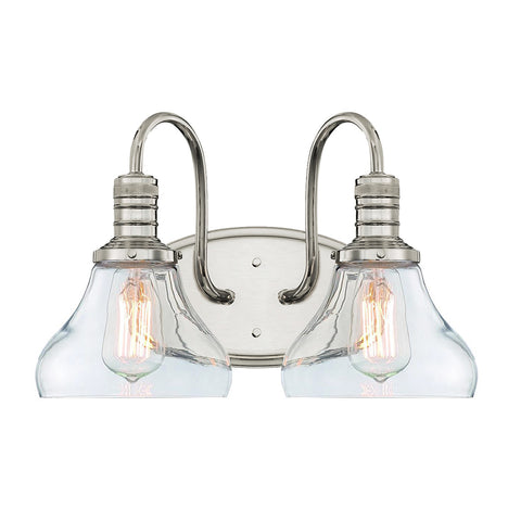 Berton 2 Light Vanity Fixture - Waterbury Design Works