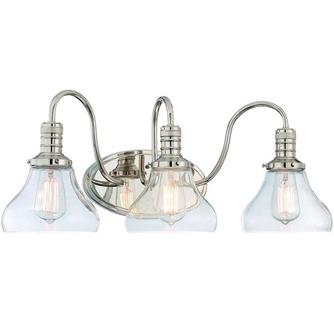 Berton 3 Light Vanity Fixture - Waterbury Design Works
