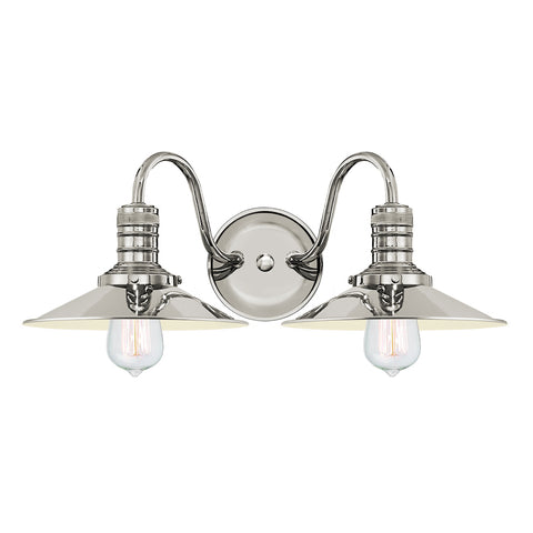 Putnam 2 Light Vanity Fixture - Waterbury Design Works