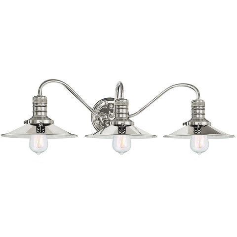 Putnam 3 Light Vanity Fixture - Waterbury Design Works