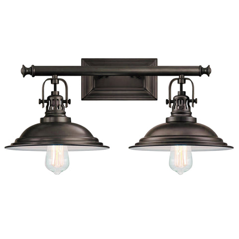 The Bowery 2 Light Vanity Fixture - Waterbury Design Works