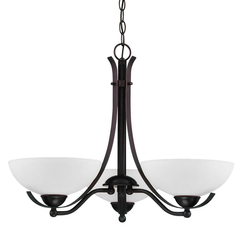 Bordeau 3 light chandelier