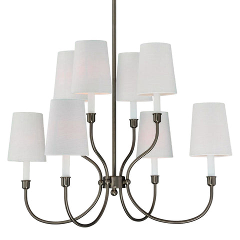 Moulin 8 Light Chandelier - Waterbury Design Works