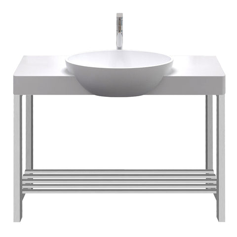 Metro Oval Basin with Console Stand - Waterbury Design Works
