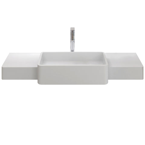 Metro Floating Wall Hung Rectangular Basin - Waterbury Design Works
