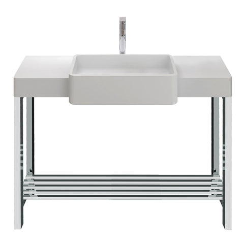 Metro Rectangular Basin with Console Stand - Waterbury Design Works