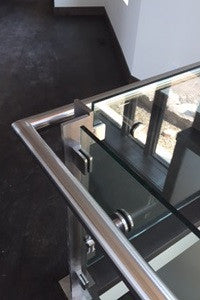 Glass Railing with Stainless Clips