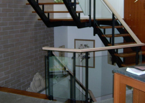 Glass Railing along Stairway