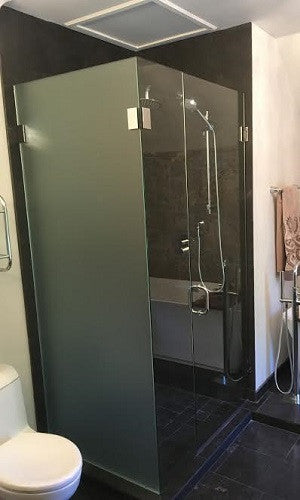 Shower Enclosure - With Frosted Panel