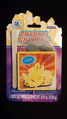 YELLOW Crystal Growing Kit Create Beautiful Crystals Watch Them Grow CK Science
