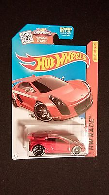 2015 HOT WHEELS Mastretta MXR Red HW RACE Collectible Toy Car