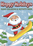 Santa Claus Snow Boarding Christmas Coloring Book Stocking Stuffer Activity