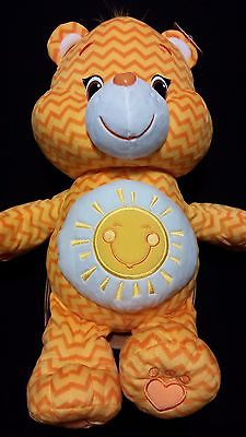 "CARE BEARS Jumbo 20"" Yellow FUNSHINE Sunshine Sun Soft Stuffed Toy Bear - ZigZag"
