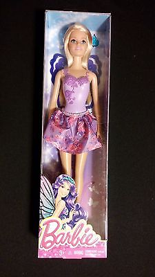 Barbie Fairytale Doll Purple Top / Pink Purple Flowers Skirt MATTEL