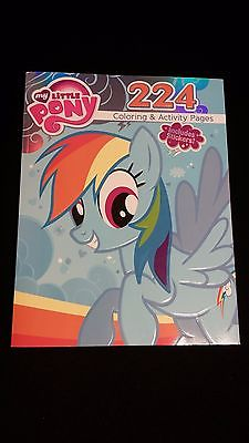 MY LITTLE PONY Rainbow Dash Cover 224pg Jumbo Coloring Activity Book & Stickers
