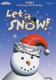 Let It Snow Holiday Snowman Christmas Coloring Book Stocking Stuffer Activity