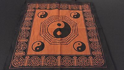 "18"" x 18"" YING YANG Red Hippie Cotton Cloth HENNA ARTIST TOTE BAG ~ India"