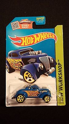 2015 HOT WHEELS Pass N Gasser Blue Hot Rat Rod w/ Flames HW WORKSHOP Toy Car
